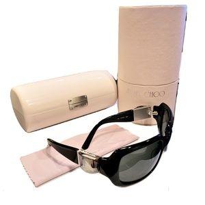 New Jimmy Choo Swarovski Sunglasses W Case & Box